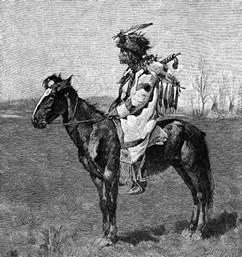 Native American Blackfoot Indian Tribe