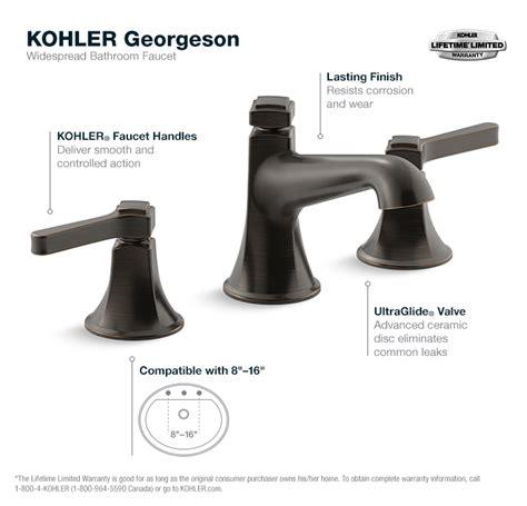 kohler georgeson 8 in widespread 2 handle water saving