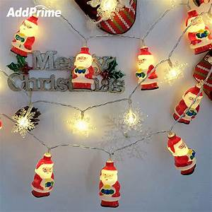 Led, Holiday, Lights, Christmas, Lights, Indoor, Santa, Claus, Snowflake, 20, Led, String, Lights, Christmas