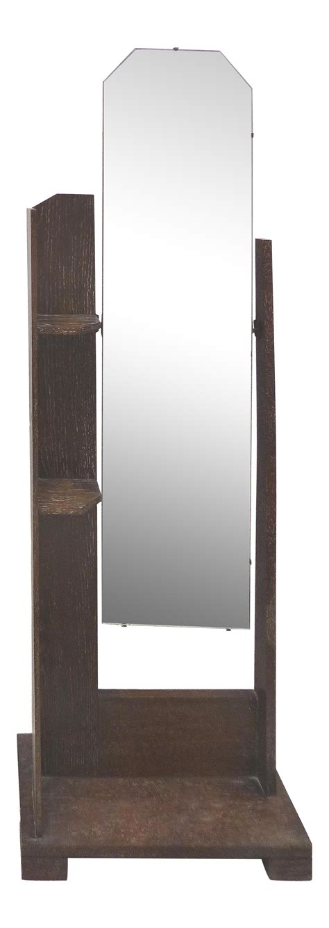 floor mirror ireland art deco arts crafts cerused oak cheval floor mirror chairish