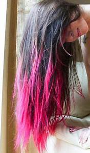 Pink ombre dip dyed hair color Beauty Hair