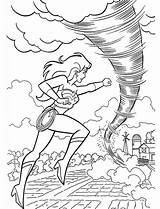 Tornado Coloring Pages Fights Wonderwoman sketch template