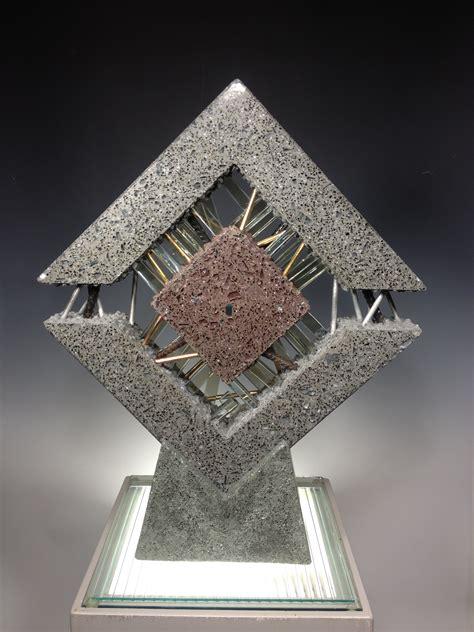 polished concrete glass  metal michael eddy artist