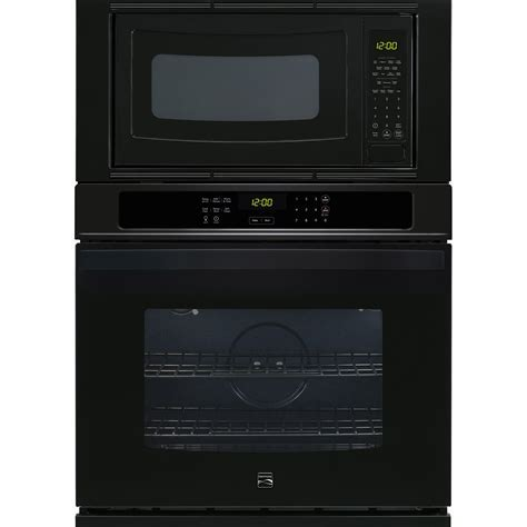 """Kenmore 49619 30"""" Electric Combination Wall Oven   Black"""
