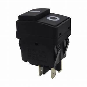 Waterproof Push Button Rocker Switch Dpst On O 4 Pin