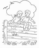 Bluebonkers Sentadas Tudodesenhos Cercado Criancas Visitar sketch template