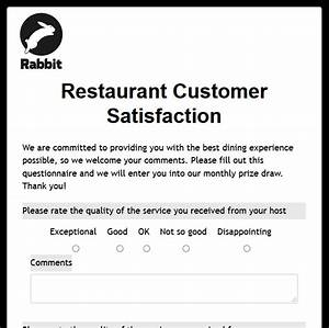 formwize examples With restaurant customer satisfaction survey template