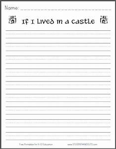 If i lived in a castle free printable k 3 writing for Writing templates for 3rd grade