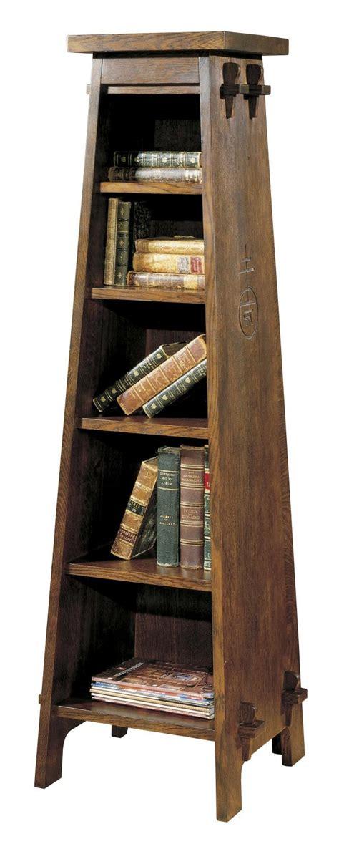 stickley oak mission classics roycroft tiered shelf