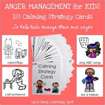 anger management  kids  calming strategy cards tpt