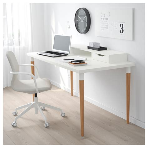 Ikea Schreibtisch Bambus by Linnmon Hilver Table White Bamboo In 2019 Products
