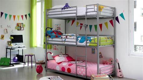 chambre avec lit superposé décoration chambre avec lit superpose