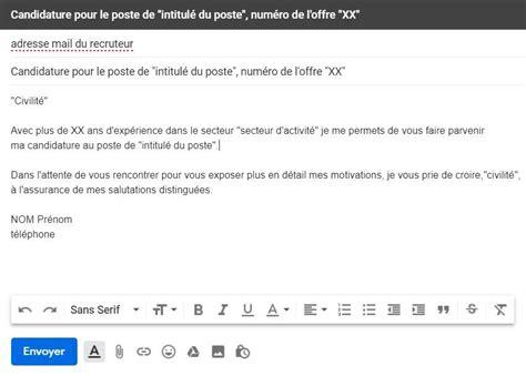 Comment Ecrire Un Cv De Travail by Comment Ecrire Un Email Professionnel Exemple