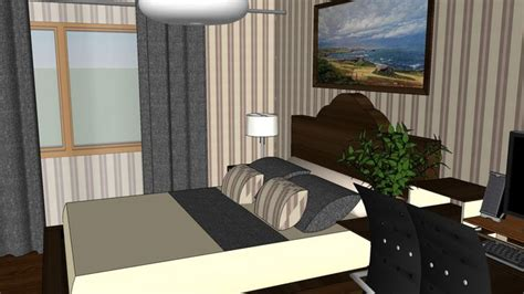 sketchup components  warehouse bedroom sketchup