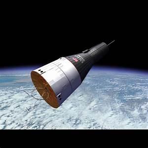 gemini space capsule orbital 3d model