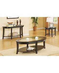 oval coffee table set matching console and end tables With console and coffee table set