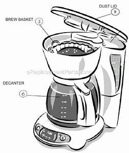 Mr  Coffee Tfx26 Parts List And Diagram