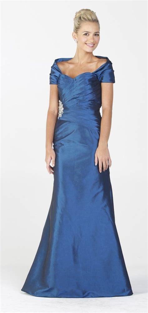taffeta long classy royal blue formal gown removable
