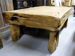 Table Bois Massif Brut : table bois brut ~ Teatrodelosmanantiales.com Idées de Décoration