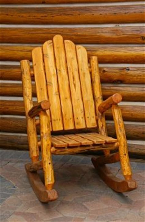 rustic log rocking chair plans plans diy