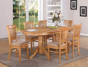 oak dining room set 9 pc vancouver oval dinette kitchen dining set table w 8 upholster chairs in oak ebay