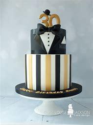Black And Gold 30th Birthday Cake