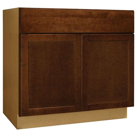 home depot cognac cabinets hton bay assembled 36x34 5x24 in shaker accessible