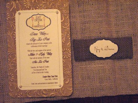 fall vintage rustic diy invitations weddingbee photo gallery