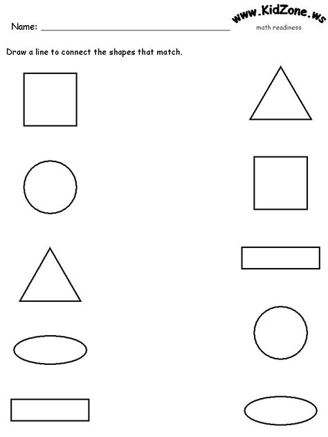 18 Best Images Of Matching Shapes Worksheets For Preschool  Printable Shape Matching Worksheets