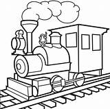 Train Coloring Clipart Tracks Drawing Clipartmag sketch template