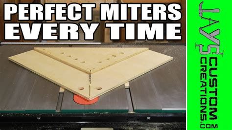 perfect miters   table  miter sled  youtube