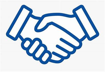 Shaking Hands Handshake Drawing Clipart Easy Line