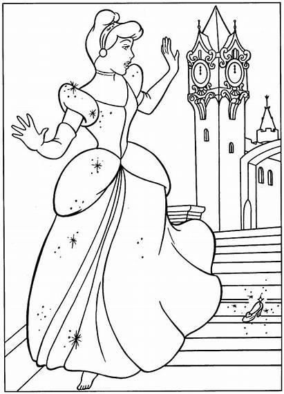 Coloring Cinderella Pages Princess Disney Printable Sheets