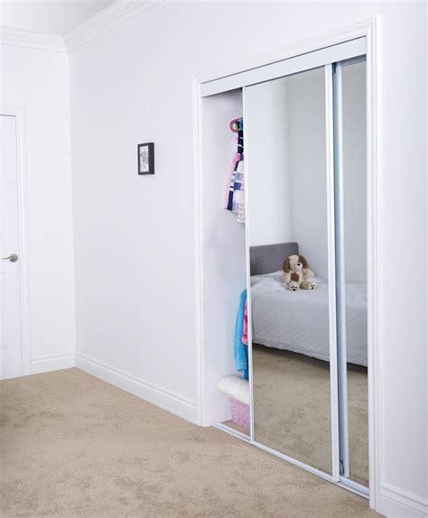 Thin Closet Doors by Sliding Bypass Door With Mirror Insert Narrow Stile Renin