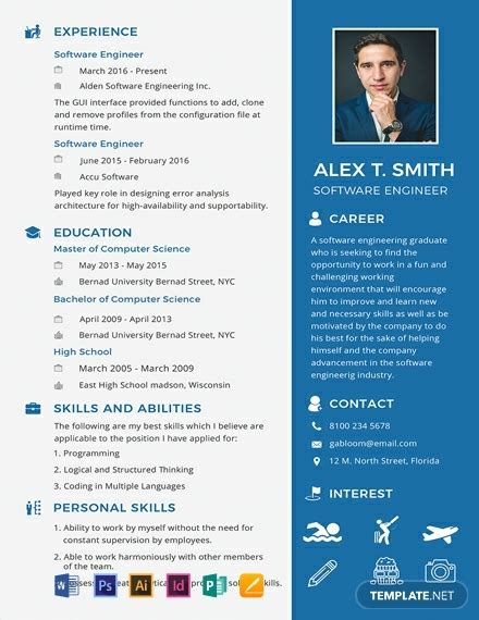 Free Resume Software by 92 Free One Page Resume Templates Ready Made