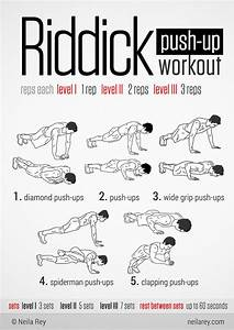 Riddick Push-Up Workout. Gets ur chest n core burning ...