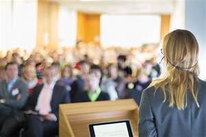 Female speaker at Business Conference and Presentation