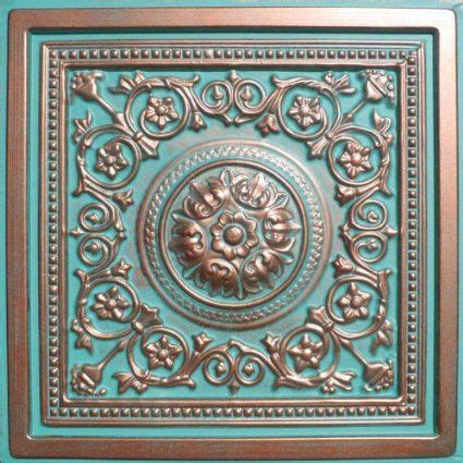 antique ceiling tiles 24x24 majesty antique copper patina 24x24 quot pvc