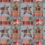 stock images plaid stars patchwork quilt image