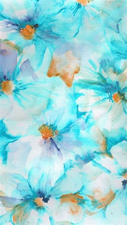 Girly Iphone Wallpapers Background Teal App Watercolor