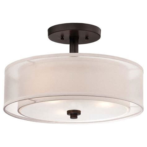 Home Depot Ceiling L Shades by Minka Lavery Parsons Studio 3 Light Smoked Iron Semi Flush