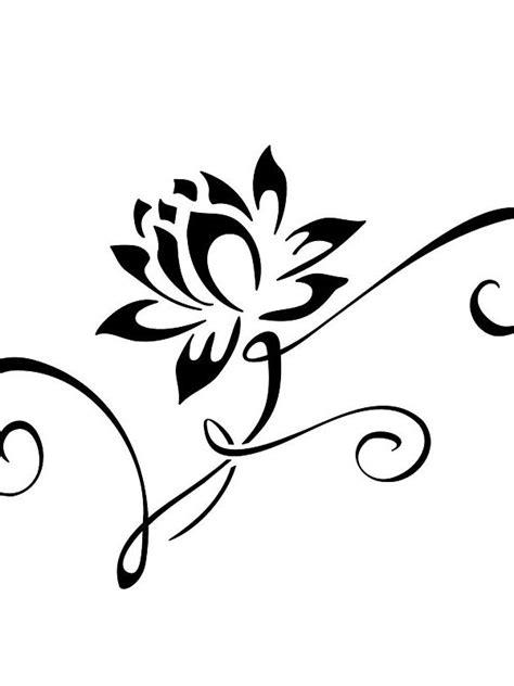 Interesting Ornament of the Flower Tattoo Design - Easy Flower Tattoos - Easy Tattoos - Crayon