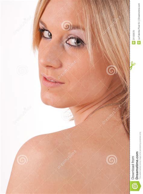 bare shoulder stock photo image