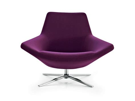 Swivel Upholstered Fabric Armchair With 4-spoke Base