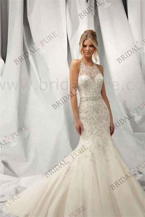 Halter Neck Lace Full Length Mermaid Wedding Dress It Is