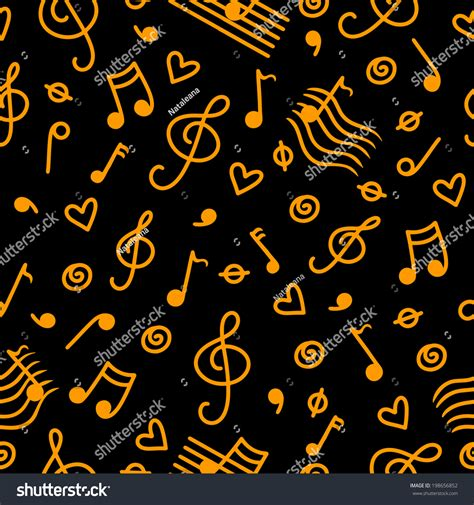 Use these digital clip arts with your die cut machine, in prints or website. Musical Seamless Pattern With Silhouettes Music Notes ...