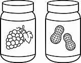 Jam Outline Clipart Jar Transparent Peanut Webstockreview sketch template