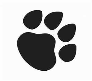 Free Paw Print : Kids Coloring - europe-travel-guides.com