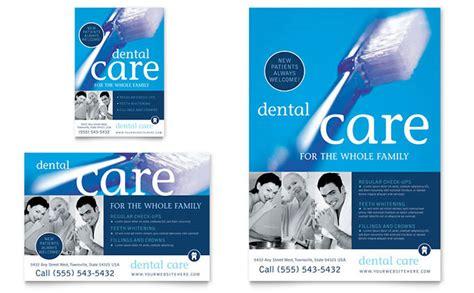 dentist office flyer ad template design