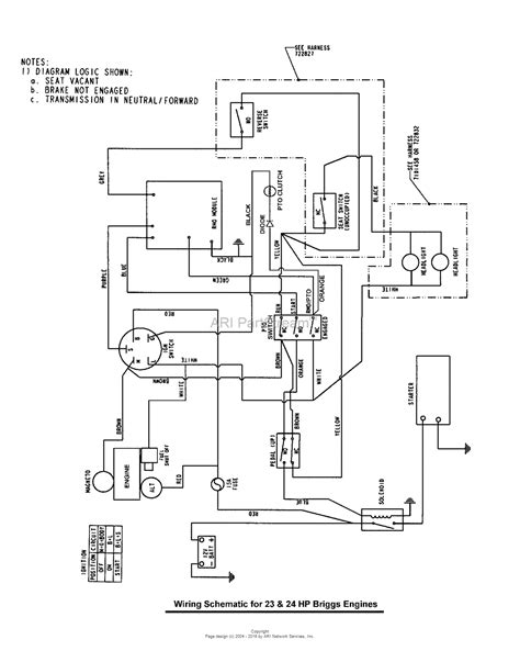 Mtd 10 Hp Wiring Diagram by Snapper 7800315 Lt23460 46 Quot 23hp Lawn Tractor Lt100